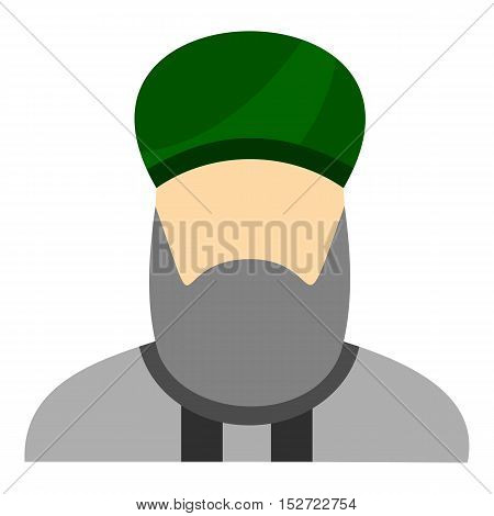 Islamic priest icon. Flat illustration of islamic priest vector icon for web design