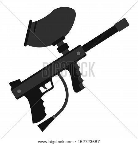 Paintball marker gun icon. Flat illustration of paintball marker gun vector icon for web design