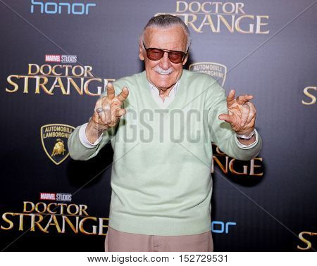 Stan Lee at the World premiere of 'Doctor Strange' held at the El Capitan Theatre in Hollywood, USA on October 20, 2016.