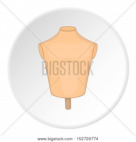 Sewing mannequin icon. Cartoon illustration of sewing mannequin vector icon for web