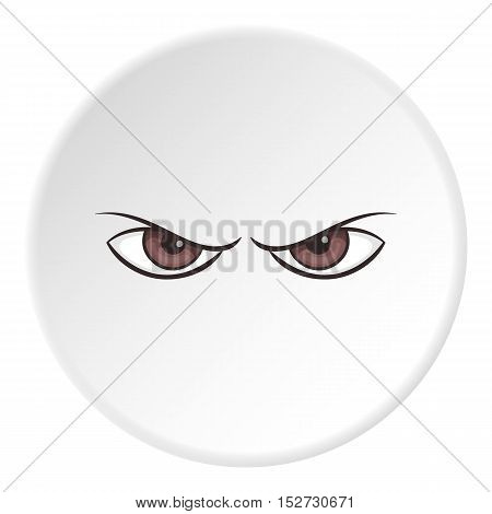 Gloomy eyes icon. Cartoon illustration of gloomy eyes vector icon for web