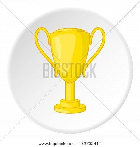 Gold cup icon. Cartoon illustration of gold cup vector icon for web