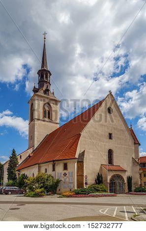 The Parish Church of the 13th century in Bruck an der Mur Austria