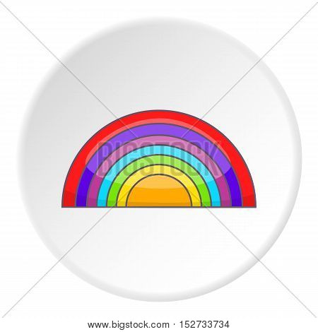 Rainbow LGBT icon. Cartoon illustration of rainbow LGBT vector icon for web