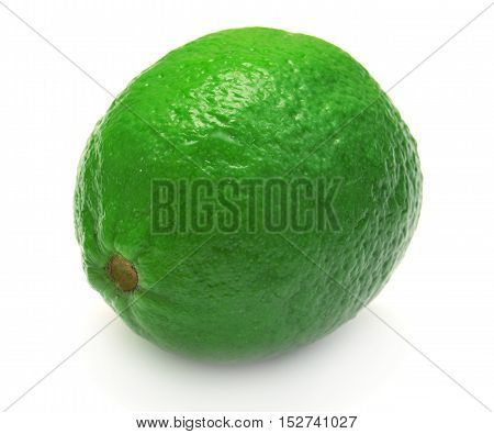 Lime isolated on white background. Fruit. Green.