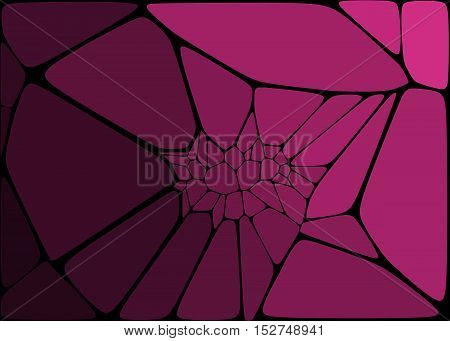 bstract background black crack on dark lilac background