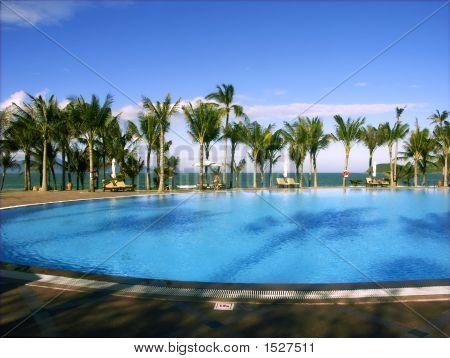 Outdoor Pool At Resort, Vietnam