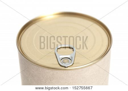 Tin can metal conserve  over white background