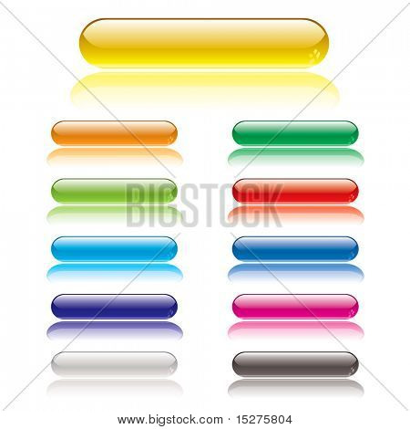 Collection of lozenge gel filled icon buttons with shadow