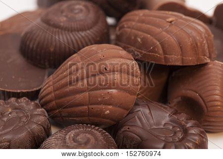 Gourmet chocolate truffle sweet praline bonbons background