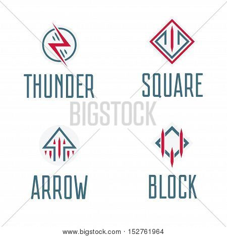 Abstract logos, symbols abd signs for event, vector and logo design