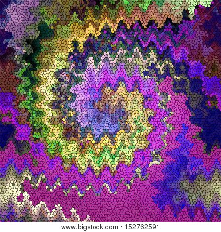 Abstract coloring background of the purples gradient with visual pagecurl, lighting, cubism,wave,shear , twirl and stained glass effects, good for your project design