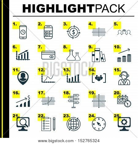 Set Of 25 Universal Editable Icons For Airport, Computer Hardware And Project Management Topics. Inc
