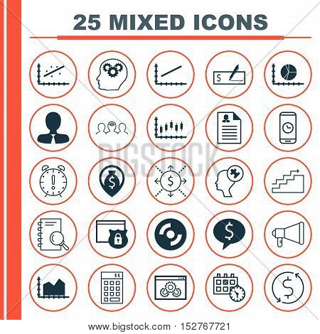 Set Of 25 Universal Editable Icons For Business Management, Hr And Human Resources Topics. Includes