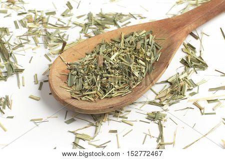 Lemon Grass. Cymbopogon citratus. Capim Limao Santo. Dried Herb for Tea