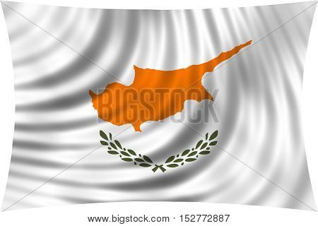 Cypriot national official flag. Patriotic symbol banner element background. Correct colors. Flag of Cyprus waving isolated on white 3d illustration