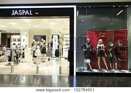 CHIANGMAI THAILAND -OCTOBER 21 2016: Jaspal store Inside of Central Festival Chiangmai. New Business Plaza of Chiangmai. About 3 Km. from Chiangmai City Thailand