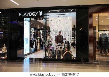 CHIANGMAI THAILAND -OCTOBER 21 2016: Playboy store Inside of Central Festival Chiangmai. New Business Plaza of Chiangmai. About 3 Km. from Chiangmai City Thailand