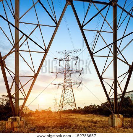 Transmission equipment high - voltage transmission tower steel structure.
