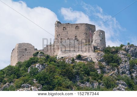 Exterior of the medival castle in Vrlika, Croatia