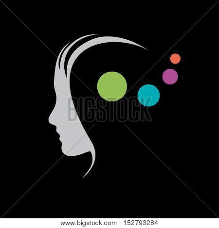 Vector sign concept of psychologist analist or scientist