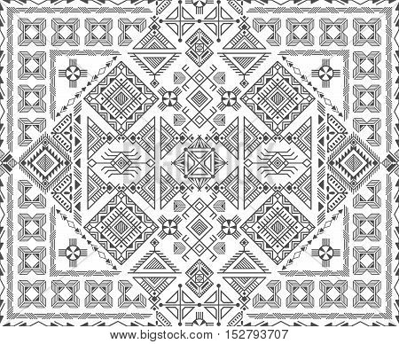 seamless ethnic pattern with native american motifs vector