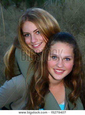 Teenage girls, best friends.