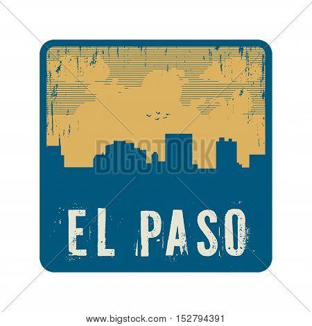 Grunge vintage stamp with text El Paso vector illustration