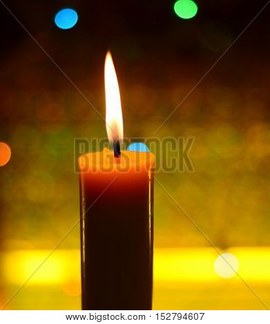 Candle light and bokeh in the night.