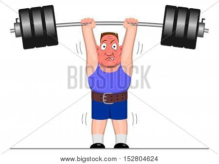 Powerlifter - Vector illustration - EPS .