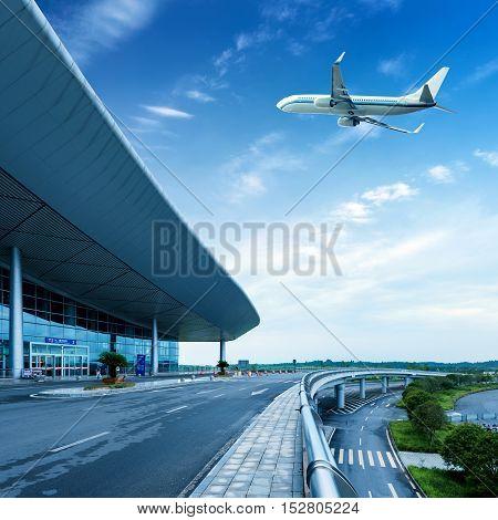 he scene of T3 airport building