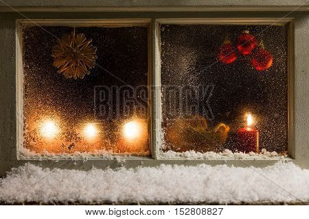 Christmas Decoration On A Window 32