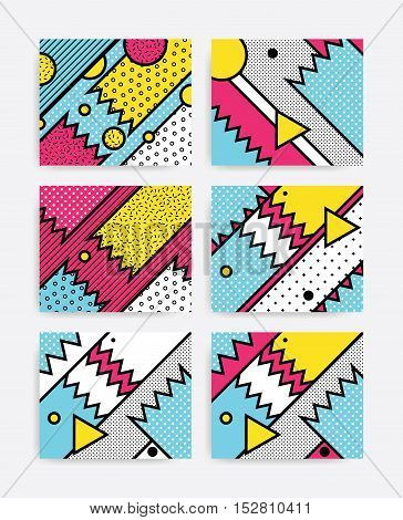 Colorful Pop Art Set