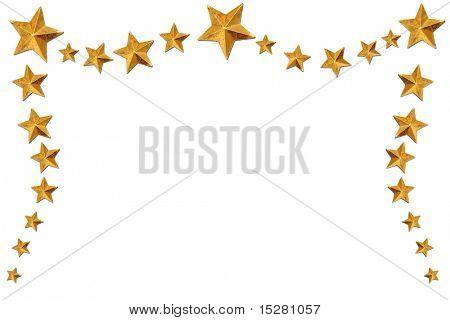 Gold star border.