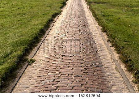 Brick Path In Westerhever In Germany