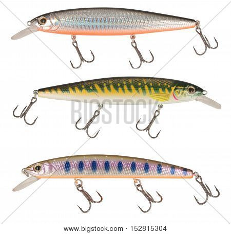 Fishing Lure Wobbler Isolated On White Background