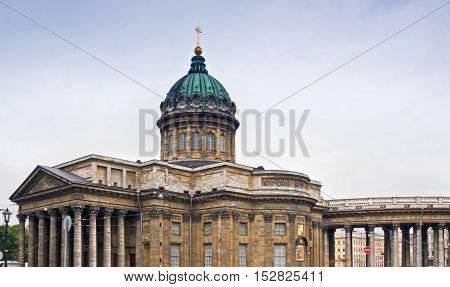 Kazan Cathedral Kazanskiy Kafedralniy Sobor in Saint Petersburg, Russia