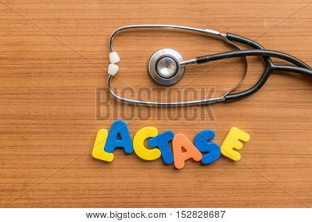 Lactase Colorful Word
