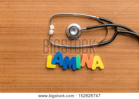 Lamina Colorful Word