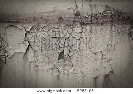 Old Rusty Paint Crack Metal Plate Texture Background