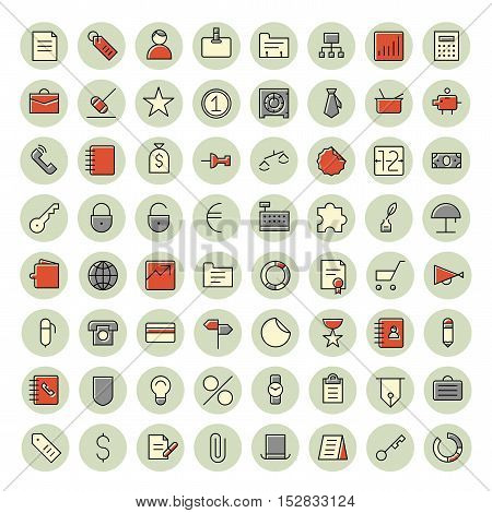 Thin line icons for business finance and banking. Vector illustration.