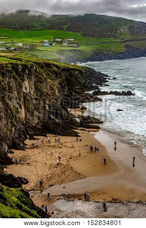 One of the beaches found on the drive around the Dingle Peninsula known as Slea Head.
