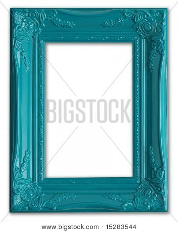 Contemporary blue picture frame.