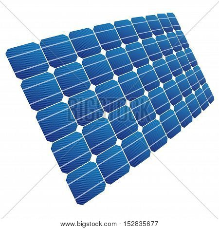 Renewable energy. The solar cell shown in perspective.