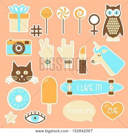 Sticker Fashion Badges