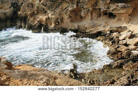 Rocky cove on Shipwreck Coast, Kauai Island, Hawaii