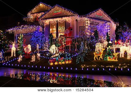 Beautiful Christmas lights display.