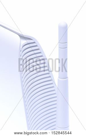 Connecting devices to the Internet of Things, WiFi Router isolated on white background