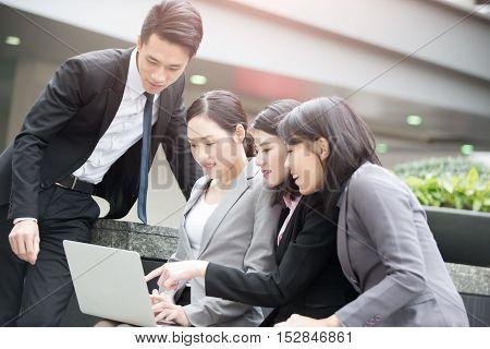 business people meeting in office in hongkong