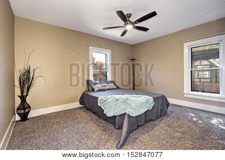 Brown And Beige Bedroom Interior